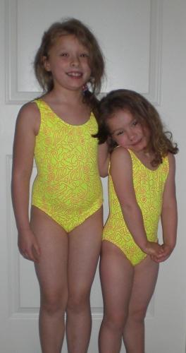 Little Girls In Gymnastics Leotards
